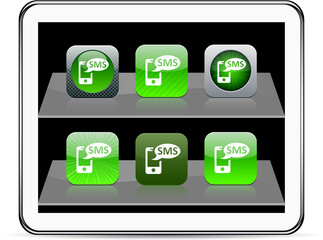SMS green app icons.