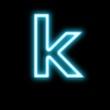 k,アルファベット、小文字