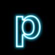 p,アルファベット、小文字