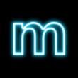 m,アルファベット、小文字