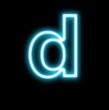 d,アルファベット、小文字