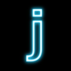 j,アルファベット、小文字