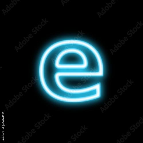 e,アルファベット、小文字