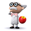 3d Mad Scientist wonders how the apple fell