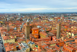 Fototapety Italy, Bologna aerial view from Asinelli tower