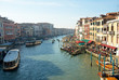 Venice the grand canal view from Rialto bridge