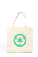 recycle bag, brown paper bag printed reuse signage on.