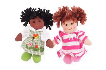 poupées blanche et noire