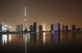 Skyline of Dubai at night, United Arab Emirates - Fine Art prints
