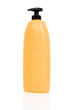 Yellow shampoo bottle