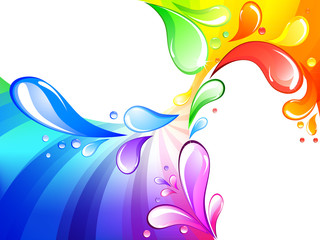 Multicolored drops background