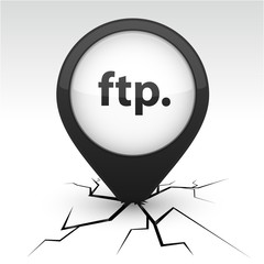 FTP black icon in crack.
