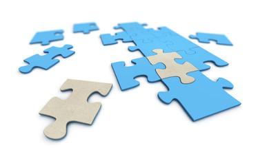 3D Puzzlespiel mit neuen Teilen