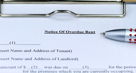 Overdue Rent Form