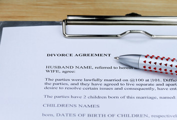 Divorce Agreement!!!!