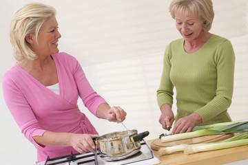 Préparation d'un repas diététique