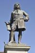 Leinwanddruck Bild - Denkmal Halle Händel