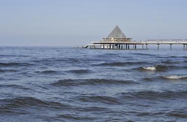 Hintergrund Seebrücke Meer