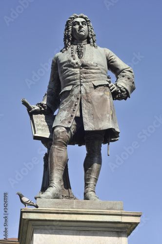 Leinwanddruck Bild Denkmal Halle Händel