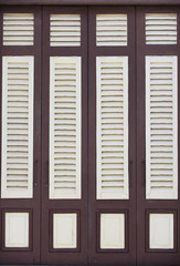 brown and white wood windows