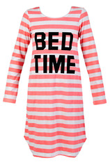 length striped nightshirt