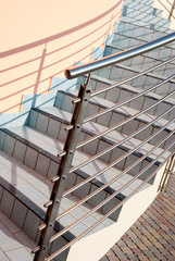 stairs with railings of steel - gradini con ringhiera di acciaio