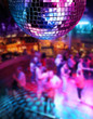 Dancing under disco mirror ball - 34262117