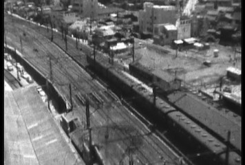 1950's damaged 8mm film Train Shibuya Tokyo Japan 4
