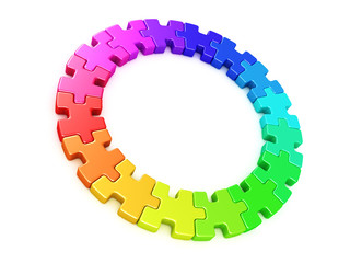 3D Colour wheel puzzle- Rainbow