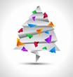 Origamy style paper Christmas tree