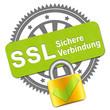 canvas print picture - SSL Verbindung Stempel+Schloss