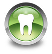 "Green Glossy Pictogram ""Dental Medicine / Dentistry"""