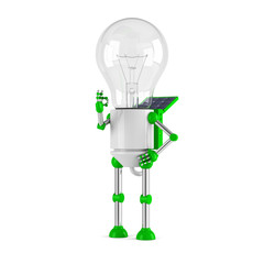 solar powered light bulb robot - ok