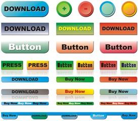 Vector buttons set