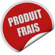Sticker rot und curl unten PRODUIT FRAIS