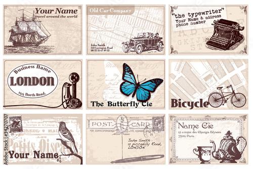 12 cartes de visites rétro