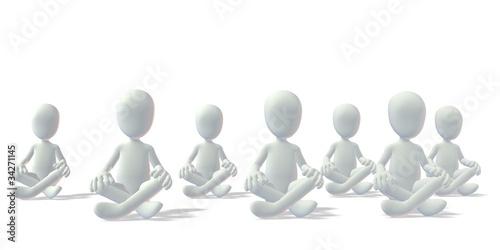 grau Gruppe in Meditationversunken