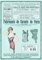 affiche d'un fabricant de corset