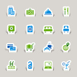 Papercut - Hotel icons poster