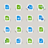 Papercut - File format icons poster