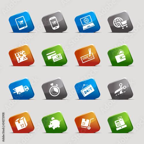 Cut Squares - Shopping icons