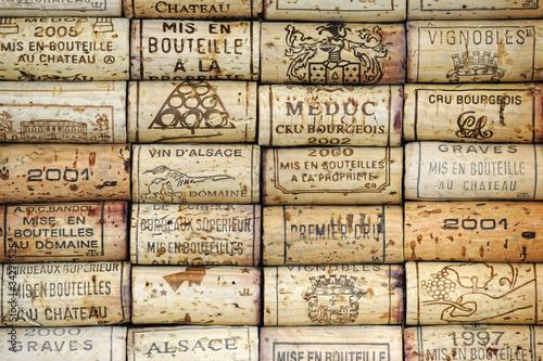 Fotobehang Wijn Background of wine corks