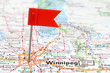 Winnipeg on map