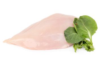 Uncooked chicken breast fillet