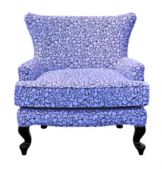 blue sofa isolated