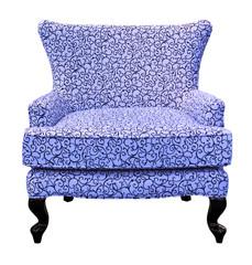 blue sofa isolated