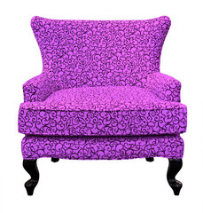 purple sofa isolated