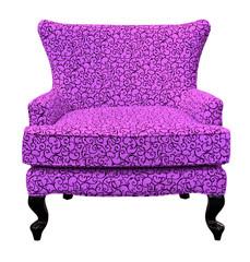 purple sofa isolated