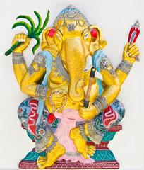 Indian or Hindu God Named Yoga Ganapati