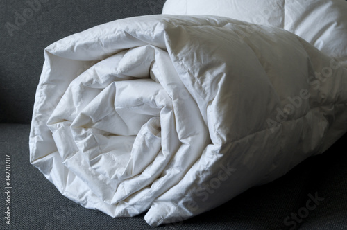 Detail of down comforter